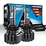 NOVSIGHT H7 15000LM 70W Super Bright LED Headlight Conversion Kit, DOT Approved, headlight bulbs, Halogen...