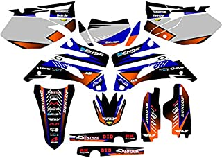 Compatible with Yamaha 2007-2014 WR 250F, Surge Blue Graphics Kit