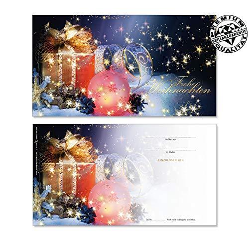 10 Gutscheinkarten Geschenkgutscheine. Gutscheine für Weihnachten x-mas. Weihnachtsmotiv. Für Kunden. X1214 geschenkgutschein gmbh