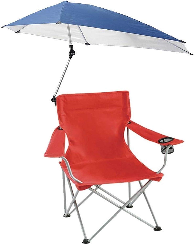 Lcxligang Klappbarer Strandkorb, klappbarer Campingstuhl, leichte Liegestühle mit verstellbarem Sonnenschutz (Farbe   rot)