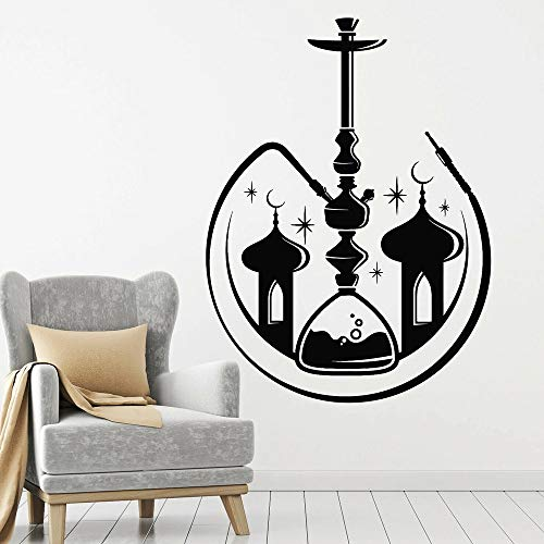Hookah Hall Pared de Vinilo Humo árabe Mezquita Artificial Pegatinas de Pared decoración de Sala de Estar Papel Tapiz de Sala de Estar