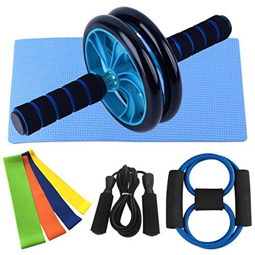 unknows Sculpt Yoga Rally, 8 piezas de correa de estiramiento de rueda abdominal banda de resistencia para yoga Kit de inicio para ejercicio en el hogar, equipo de yoga