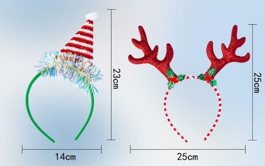 Diadema de Navidad Diademas Navide/ñas Cintas de Pelo Navide/ñas Reno copo de nieve Gorro Duende Reno de Navidad Hair Hoop Hair Band Art/ículos para fiestas Accesorios para el Cabello de Navidad