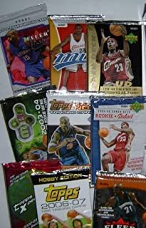 50 Original Unopened Packs of New & Vintage Basketball Cards (1990s-Current Year) PLUS Pack 100 Soft Sleeves