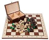 Square - Profesional Ajedrez de Madera Nº 6 - Caoba BL - Tablero de ajedrez + Figuras - Staunton 6