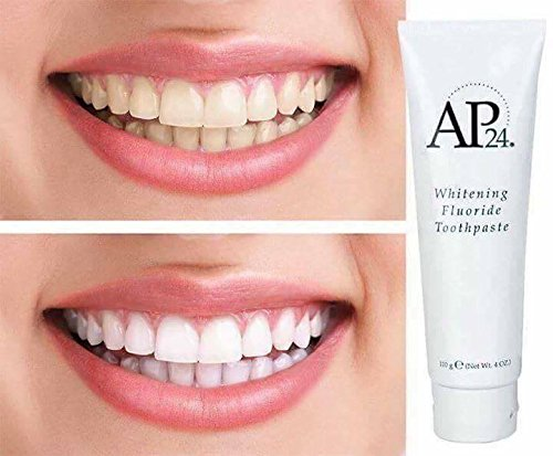AP-24 Whitening Fluoride Zahnpasta • AP24 Weißmachende Zahncreme mit Fluorid • Zahnbleaching • Zahnaufhellung • für weiße Zähne (1)