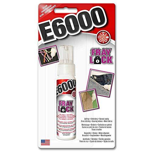 E6000 Fray Lock versiegelt Raw Edges and Locks Knots für Quilten, Stickerei, Nähen und Kreuzstich, gerissene Jeans 59,1 ml