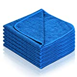 Bayeta Microfibra Coche Secado Rápido Super Suave Ideal para pulir Coches (6 Piezas, 40cm x 40cm )