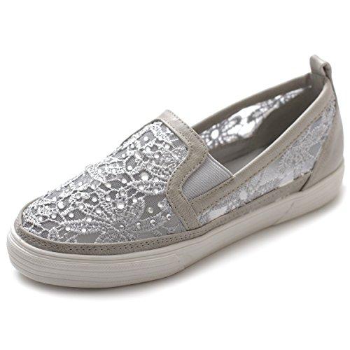 Ollio Women's Shoes Slip on Sneaker Lace Flats ML009(9 B(M) US, Grey)
