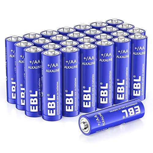 EBL Batterie Alcaline AA 1.5V (28 pcs) con 10 Anni Validità - Pile Alcaline AA Adatta per Controller di Gioco, Mouse, Telecomando ecc