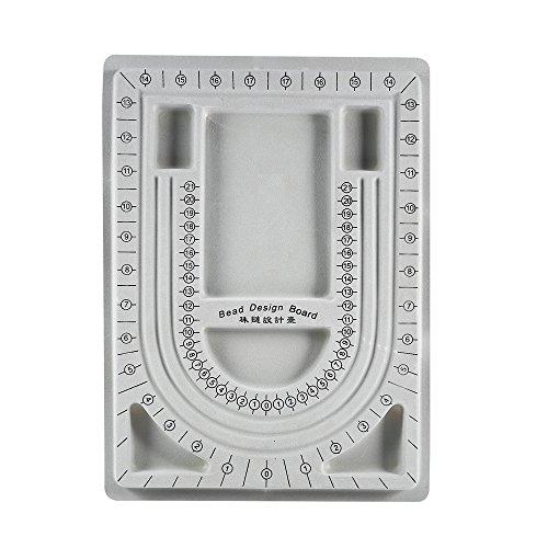 Bandeja de diseño organizadora de cuentas para collares, joyas y manualidades