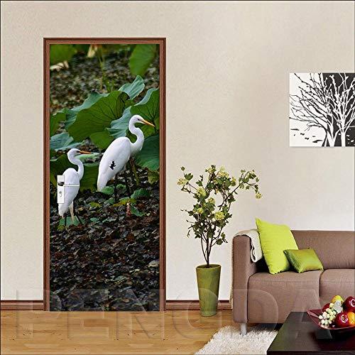 Deur etiket 3-dagen gestiket rubber deur canvas zelfklevende decoratie huis renovierar PVC schild konijn dierenprint kunst foto waterdicht behang voor