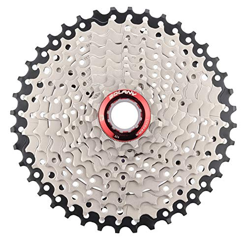 BOLANY 10 Speed Cassette,MTB Cassette 10 Speed, Fit for Mountain Bike, Road Bicycle,Including 22mm Extender - for SRAM Shimano-Type splined freehub Body (Black+Silver 11-40T)