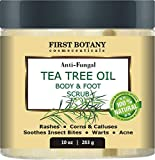 100% Natural Anti Fungal Tea Tree Oil Body & Foot Scrub with Dead Sea...