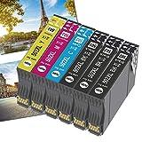 Ogouguan 502XL - Cartucho de tinta para Epson 502, compatible con impresoras Komhel mit Expression Home XP-5100, XP5100, XP-5105 y XP5105, Epson Workforce WF-2860, WF-2860DWF y WF-2865 (6 unidades)