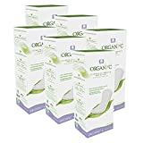Organyc 100% Certified Organic Cotton Everyday Panty Liner - Flat, Light Flow, Light Plus, 24 Count (Pack of 6)