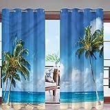 """Tenda termica per esterni, con occhielli, delfini Hawaii Oceano per baldacchino, pergola/cortile moderno 108""""x96""""(274x244cm) Giallo05."""