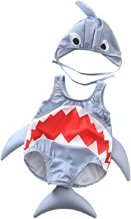 LiLiMeng Toddler Kids Baby Girls Boys Cartoon Shark Swimsuit Bikini Swimwear Bathing Suit