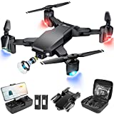 JoyGeek Drone with Camera for Adults Kids, 1080P HD Foldable 110° FPV RC Remote Control Quadcopter for Boys Beginners, 40 Min Long Flight Time, Gesture Control, 3D Flip, Altitude Hold Aircraft