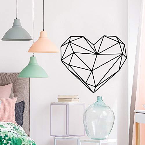 Hermosas pegatinas ecológicas de corazón para decoración de dormitorio infantil, pegatinas de arte para habitación de niños, pegatinas de pared impermeables A7 57x65cm