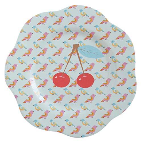 Overbeck and Friends Cherry Assiette en mélamine Multicolore 22 cm