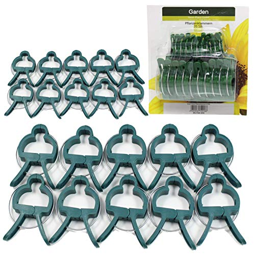 Smart Planet Pflanzenclips Pflanzenklammern 20 Pflanzenclips Pflanzenklammern 20 Stück - Set aus 10x groß 10x klein - stabilen Clips für kleine & große Triebe Spaliere Rosenbögen Rankhilfen
