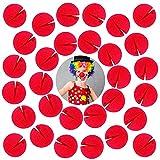 30 narices de payaso,narices rojas,narices de payaso de rol para Halloween,fiestas de carnaval u otras fiestas temáticas