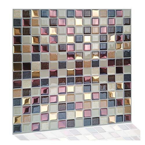 GuoQiang Zhou Vinilo autoadhesivo impermeable para cocina, mosaico de vinilo