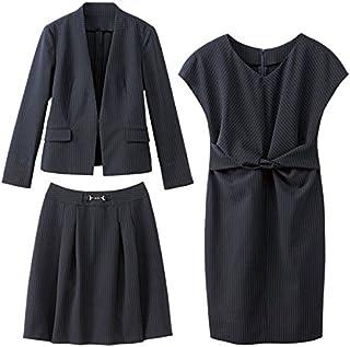 ジーラ バイ リュリュ(ファッション)(GeeRA by RyuRyu) 【WEB限定】スタイリッシュ着回し3点スーツ