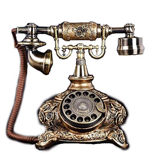 LDDZB Teléfono Europeo Rotary Classical Garden Retro Creativo Hogar Oficina Fija Teléfono Fijo (Color: B) (Color: B) (Color : B)
