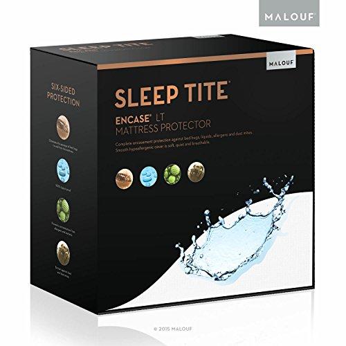 MALOUF SL0P12QQEP Sleep TITE LT Bed Bug Proof Waterproof Mattress Encasement Protector-Queen