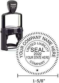 Trodat Professional Series Business Stamp Seal with Metallic Core, 1.6 x 1.6 Inches, Black, 1 Count (5215)
