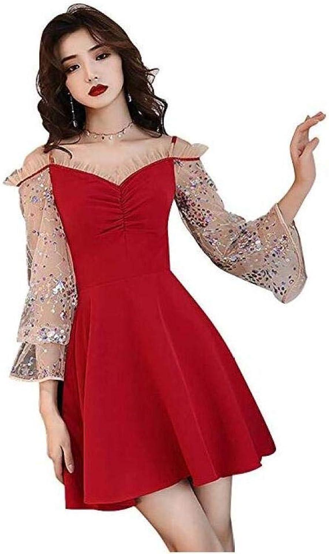 CTO Wedding Bridesmaid Dress Party Sling Red Slim Evening Dress