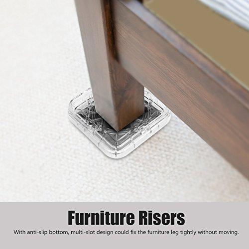 Fournyaa Leichte Kunststoff-Möbelpolster, Möbelgießbecher, Platz für Stuhlschreibtisch(Transparent Color)