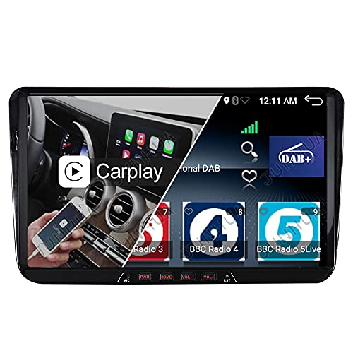 "Built-in DAB+ Android 10 2GB+32GB Carplay Android Auto Autoradio 9\"" GPS Navigation für VW Passat Golf 5 6 Tiguan Transporter T5 Polo Caddy Skoda Octavia Seat Bluetooth 5.0 WiFi Navi"