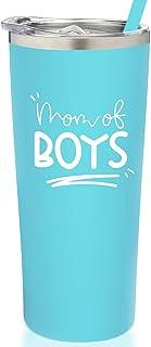 SassyCups Mom of Boys Tumbler | Vacuum Insulated Stainless Steel Travel Mug with Straw For Mom Birthday | Cute Boy Mom Mug...