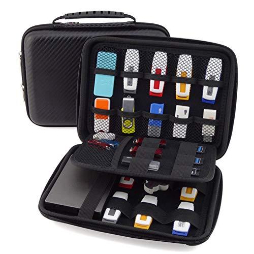 GUANHE Organizador de carcasa rígida de accesorios de electrónica – Funda impermeable para Power Bank/USB/Disco duro