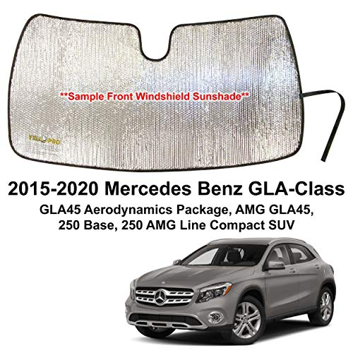 YelloPro Custom Fit Automotive Reflective Front Windshield Sunshade Accessories UV Reflector for 2015 2016 2017 2018 2019 2020 Mercedes Benz GLA Class GLA45 Aerodynamics, GLA45, 250 Base, 250, AMG SUV