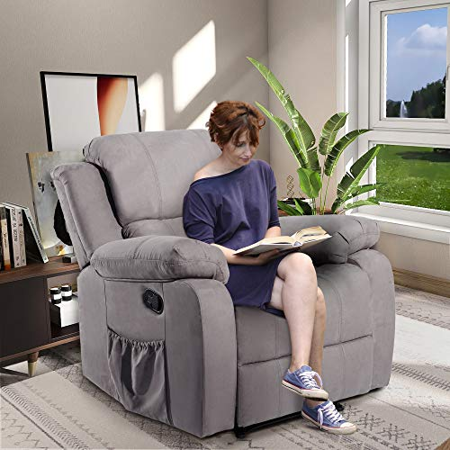 Massage Recliner Chair Heated Ergonomic Lounge with Remote Control