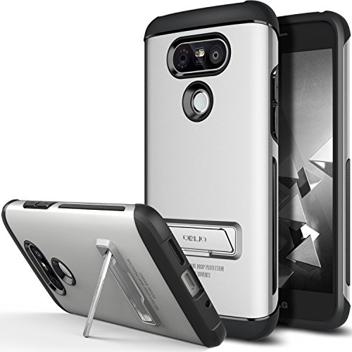 LG G5 Case, OBLIQ [Skyline Advance][Satin Silver] with Metal Kickstand Thin Dual Layered Metallic Heavy Duty Hard Protection Hybrid Case for LG G5 (2016)