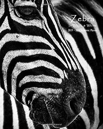 Zebra in Black & White 2019-2020 Academic Planner: Weekly ...