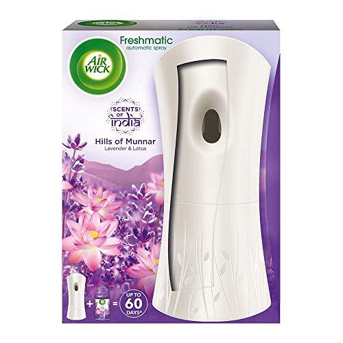 Airwick Freshmatic Automatic Air Freshener Complete Kit [Machine + Hills of Munnar refill - 250 ml]