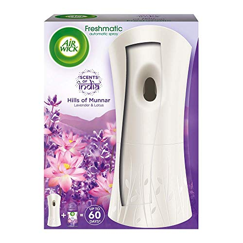Airwick Freshmatic Automatic Air Freshener Complete Kit [Machine + Hills of Munnar refill - 250 ml]