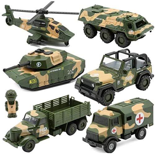 YGB Spielzeug-Werkzeugwagen, sechs in Einer Legierung Metalldruckguss Spielzeugauto-Set Krankenwagen...