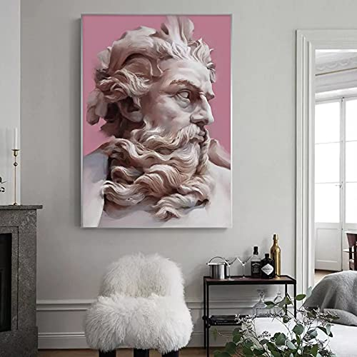Quadri decorativi Statua di gesso greca Arte, Scultura Stampa su tela Figura Pittura a olio Immagine...
