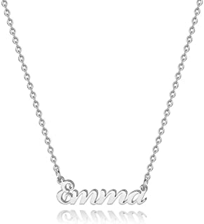 Hidepoo Custom Name Necklace Personalized – Stainless Steel Customized Name Pendant Necklace,Dainty Letter Name Necklace C...
