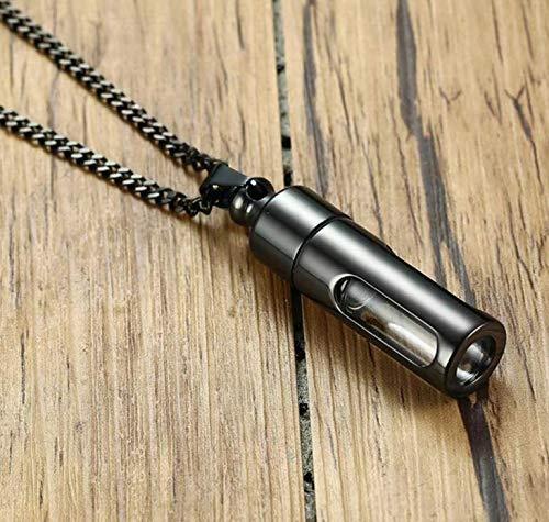 Msbvf 48mm Openable Tube Urn Anhänger Halskette für Asche Haarschmuck DIY Zubehör