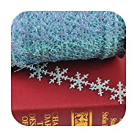 kawayi-桃 3ヤード/ロットクリスマススノーフレークリボントリムレースセットボークラフトDIYボックスパッキングアートソーイングアクセサリーCP2326-13