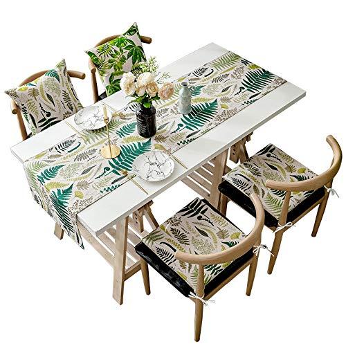 Branfan Moderne minimalistische Scandinavische eettafel runner TV kast tafelkleed rechthoekige woonkamer side counter doek ladekast doek 40 * 120CM (enkele vloer vierkante kop) groen