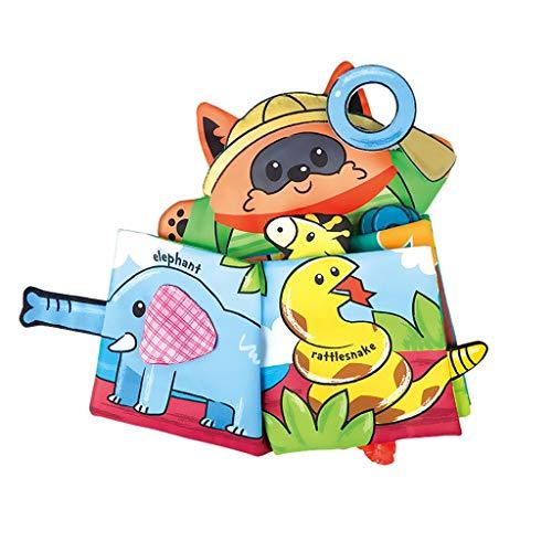 TwoCC-Kinderspielzeug, Stoff, Buch Baby, Pädagogisches Tuch Kinderspielzeug, Weiches Buch Übung Intelligenz Pädagogisches Spielzeug Sicher Morable Waschbar Erstes Buch für Baby